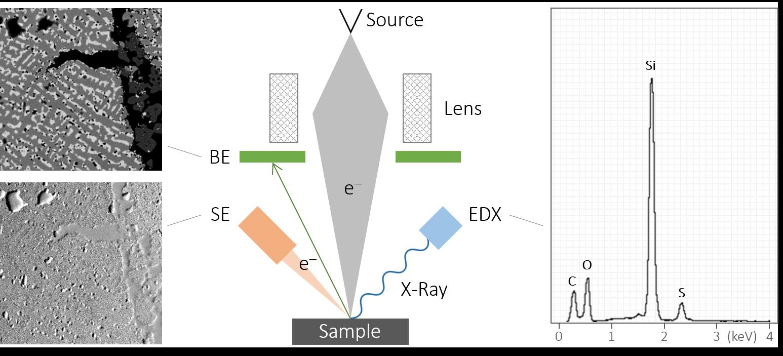 SEM-EDX-principle