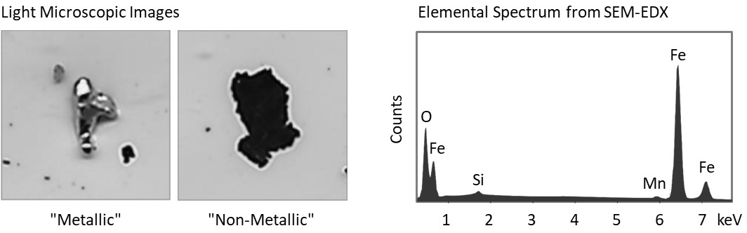Metallisch-glaenzende-Partikel-SEM-EDX