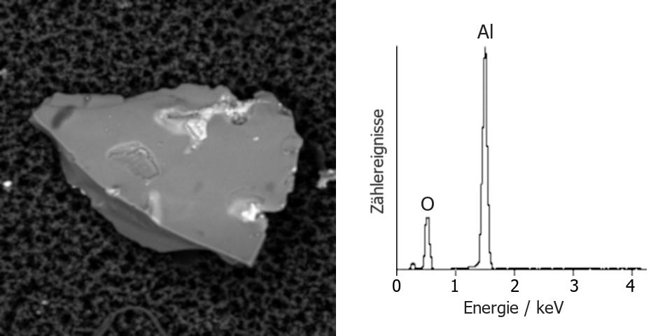 restschmutz-partikel-korund